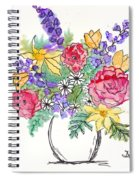 Perky Spring Flowers Spiral Notebook
