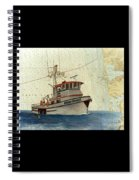 Perseverance Crab Fishing Boat Nautical Chart Art Spiral Notebook