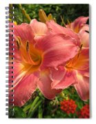 Persian Market Daylily Spiral Notebook