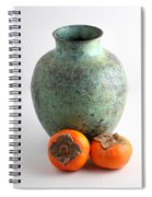 Persimmon With Vase Spiral Notebook