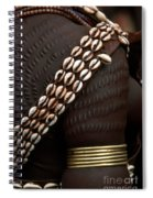 Person Showing Cowry Shell Detail Spiral Notebook