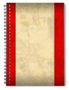 Peru Flag Vintage Distressed Finish Spiral Notebook