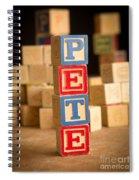 Pete - Alphabet Blocks Spiral Notebook