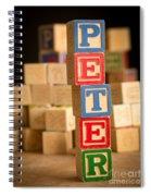 Peter - Alphabet Blocks Spiral Notebook
