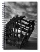 Peter Iredale Shipwreck Black And White Spiral Notebook