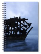 Peter Iredale Shipwreck Oregon 3 Spiral Notebook
