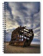 Peter Iredale Shipwreck Sunrise Spiral Notebook