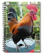 Petey The Old English Game Bantam Rooster Spiral Notebook