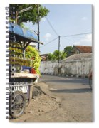Petrol Stall And Cyclo Taxi In Solo City Indonesia Spiral Notebook
