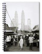 Petronas Over Kampung Baru Spiral Notebook
