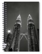 Petronas Towers At Night Spiral Notebook