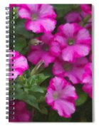Petunias Oil Painting Spiral Notebook