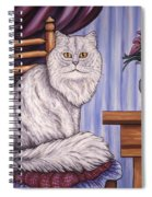 Pewter The Cat Spiral Notebook