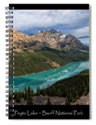 Peyto Lake Poster Spiral Notebook