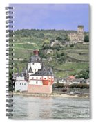 Pfalzgrafenstein With Burg Gutenfels  Spiral Notebook