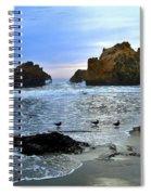 Pfeiffer Beach Big Sur Twilight Spiral Notebook