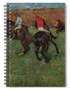 Pferderennen Vor Dem Start Spiral Notebook