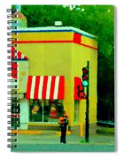 Pfk Poulet Frit Kentucky Kfc Sherbrooke And Decarie Montreal Art Restaurant Scenes Carole Spandau Spiral Notebook