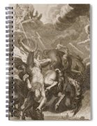 Phaeton Struck Down By Jupiter's Thunderbolt Spiral Notebook