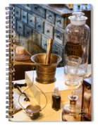Pharmacist - Brass Mortar And Pestle Spiral Notebook