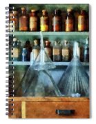 Pharmacist - Glass Funnels And Barber Pole Spiral Notebook