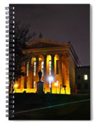 Philadelphia Art Museum  At Night From The Rear Spiral Notebook