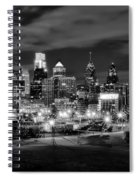 Philadelphia Black And White Cityscape Spiral Notebook