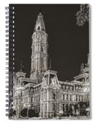 Philadelphia City Hall Mono Spiral Notebook
