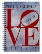 Philadelphia City Of Brotherly Love  Spiral Notebook
