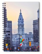Philadelphia Cityhall In The Morning Spiral Notebook