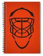 Philadelphia Flyers Goalie Mask Spiral Notebook