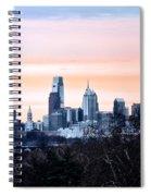 Philadelphia From Belmont Plateau Spiral Notebook