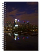 Philadelphia From South Street At Night Spiral Notebook