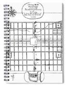 Philadelphia: Map, 1683 Spiral Notebook