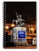 Philadelphia Museum Of Art At Night - East Entrance Spiral Notebook