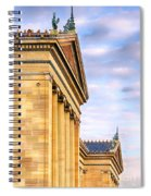 Philadelphia Museum Of Art Facade Spiral Notebook