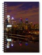 Philadelphia On The Schuylkill At Night Spiral Notebook