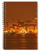 Philadelphia Skyline Panorama Spiral Notebook