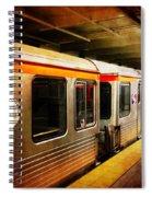 Philadelphia - Waiting Train Spiral Notebook