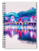 Philadelphia's Boathouse Row On The Schuylkill River Spiral Notebook