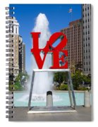 Philadelphia's Love Park Spiral Notebook