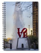 Philadelphia's Love Story Spiral Notebook