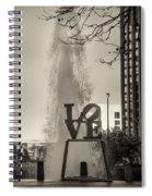 Philadelphia's Love Story In Sepia Spiral Notebook