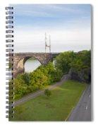 Philadelphia's Rock Tunnel - Kelly Drive Spiral Notebook