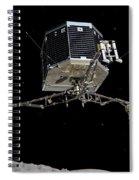 Philae Lander Descending To Comet 67pc-g Spiral Notebook