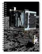 Philae Lander On Comet 67pc-g Spiral Notebook