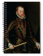 Philip II Of Spain C.1570 Spiral Notebook