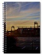 Phillies Citizens Bank Park At Dawn Spiral Notebook