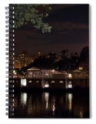 Philly Waterworks At Night Spiral Notebook
