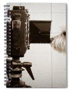 Pho Dog Grapher - Ground Glass View Spiral Notebook
